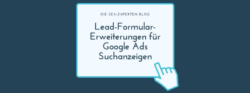 Google Lead Formular Titelbild