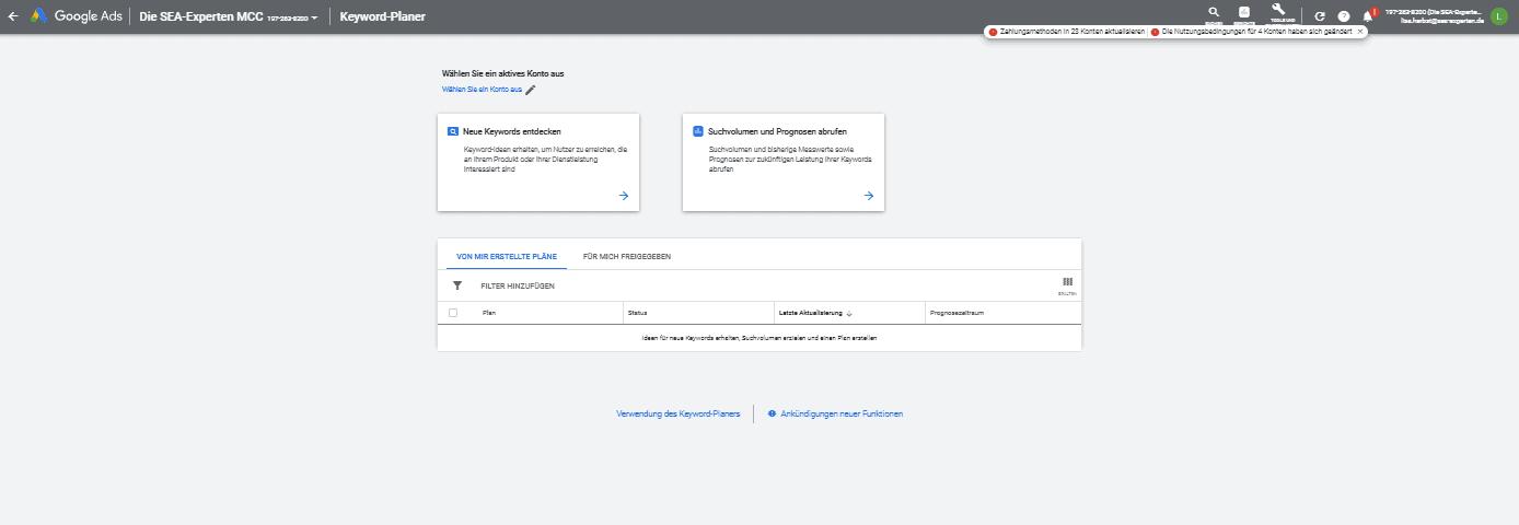 keyword planer übersicht detail 1
