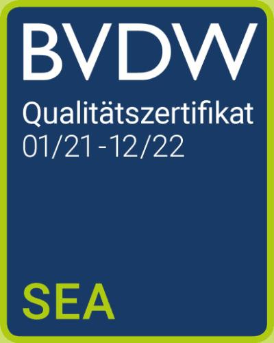 BVWD Qualitätszertifikat SEA