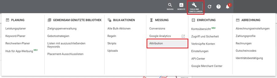 Attributionsmodelle Google Ads 1